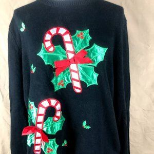 Retro Threads Candy Cane Ugly Sweater XXL